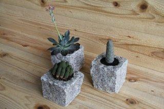 MANOMADE ORIGINAL | ISHITOME Planter<br />マノメイドオリジナル イシトメ石製プランター
