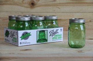 Ball Mason jar | Regular Mouth 16oz Green<br/>ボール メイソンジャー レギュラーマウス 480ml グリーン