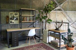 MANOMADE ORIGINAL | Work Table &  3-Stage Open Shelf<br />マノメイドオリジナル ワークテーブル & 3段オープンシェルフ