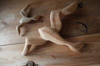 MANOMADE ORIGINAL | Wooden wall hanging objects<br />マノメイドオリジナル 木製壁掛けオブジェ(かもめの親子)