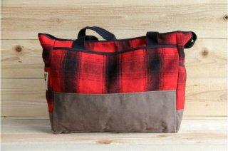 Stormy Kromer | Carryall Tote Bag Red/Black Check<br/>ストーミークローマー キャリオールトートバック レッド・ブラックチェック