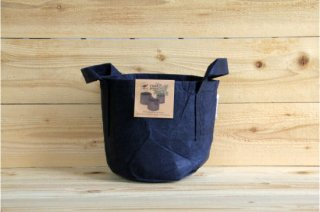 Root Pouch | Navy with handle Non-Degradable 2gal(8L)<br/>ルーツポーチ ネイビー 持手付き 非分解性