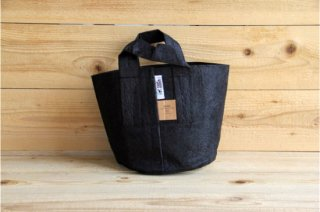 Root Pouch | Black with handle Degradable 2gal(8L)<br/>ルーツポーチ ブラック 持手付き 生分解性