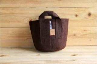 Root Pouch | Brown with handle Non-Degradable 2gal(8L)<br/>ルーツポーチ ブラウン 持手付き 非分解性