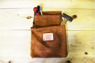 Heritage Leather | 483SP 2-Pocket Professional Suede Drywall Pouch<br/>ヘリテージレザー 2ポケットスウェードツールポーチ