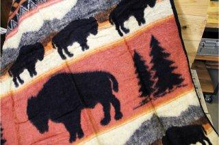 Earth Ragz | JACQUARD THROW Buffalo Run<br />アースラグズ ブランケット バッファローラン