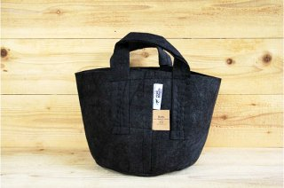 Root Pouch | Black with handle Non-Degradable 3gal(12L)<br/>ルーツポーチ ブラック 持手付き 生分解性
