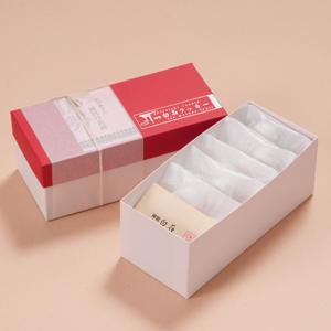 神宮白石クッキー35個入(7個×5袋)箱色 赤×白