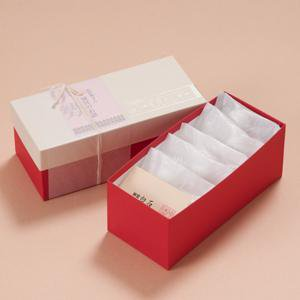 神宮白石クッキー35個入(7個×5袋)箱色 白×赤