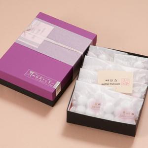 神宮白石クッキー56個入(7個×8袋)箱色 紫×黒