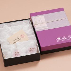 神宮白石クッキー70個入(7個×10袋)箱色  紫×黒