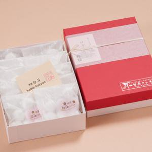 神宮白石クッキー70個入(7個×10袋)箱色  赤×白