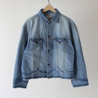 【30%OFF】【bukht / ブフト メンズ】CUT OFF DENIM JACKET- Light Wash - - 12.5oz Selevage Denim -