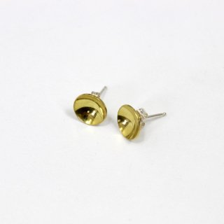 【7月14日再値下げ!】【25%OFF】ANOTHER FEATHER アナザーフェザー BRASS CUP STUDS GOLD