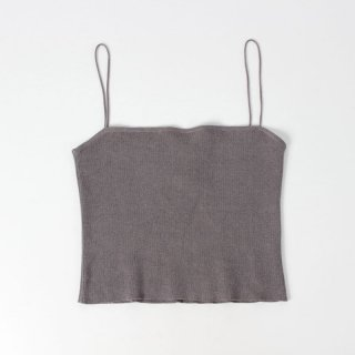 【20%OFF】holiday   KNIT CAMI BROWN