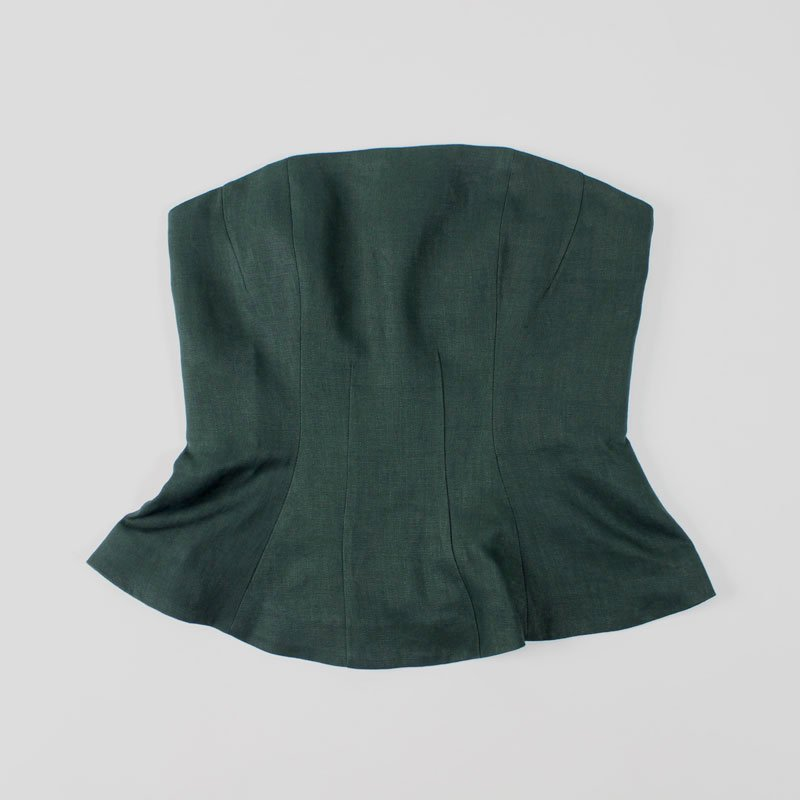 【FINAL PRICE 1月21日再値下げ】【50%OFF】JANE SMITH BUSTIER GREEN