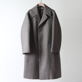【2018 A/W】【AURALEE / オーラリー メンズ】DOUBLE FACE CHECK LONG COAT HOUNDSTOOTH CHECK