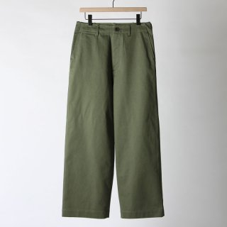 【2018 A/W】【AURALEE / オーラリー メンズ】WASHED FINX CHINO WIDE PANTS OLIVE
