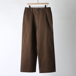 【2018 A/W】【AURALEE / オーラリー メンズ】WASHED FINX CHINO WIDE PANTS BROWN