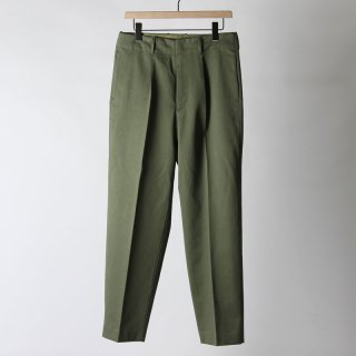 【2018 A/W】【AURALEE / オーラリー メンズ】WASHED FINX CHINO TAPERED PANTS OLIVE