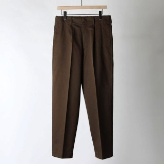 【2018 A/W】【AURALEE / オーラリー メンズ】WASHED FINX CHINO TAPERED PANTS BROWN