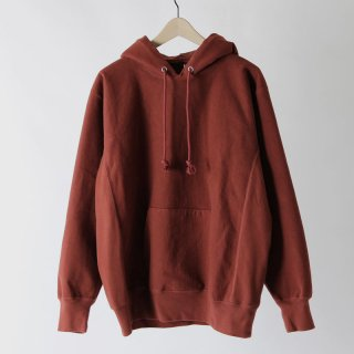 【2018 A/W】【AURALEE / オーラリー メンズ】SUPER MILLED SWEAT P/O PARKA REDBROWN