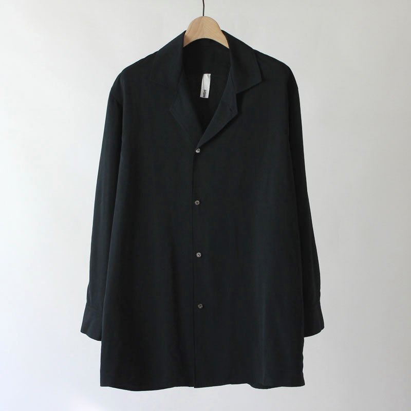 Edwina Horl OPEN COLLAR SHIRTS BLACK