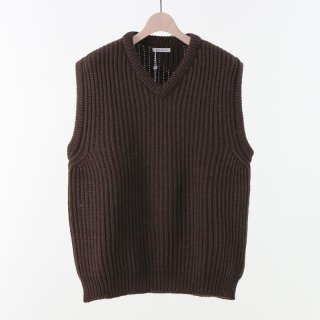 【2018 A/W】UNIVERSAL PRODUCTS ユニバーサルプロダクツ LOW GAUGE KNIT VEST
