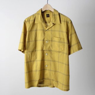 【2018 S/S】【TOWNCRAFT タウンクラフト】 CLASSIC CHECK OPEN S/S SHIRTS YELLOW