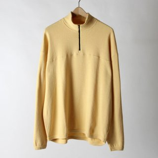 【2018 A/W】【unfil / アンフィル】cotton-thermal mesh half zip pullover WHEAT