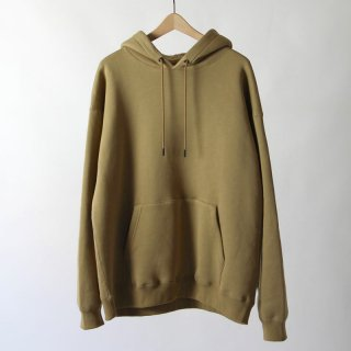 【2018 A/W】【unfil / アンフィル】cotton-terry hoodie CAMEL