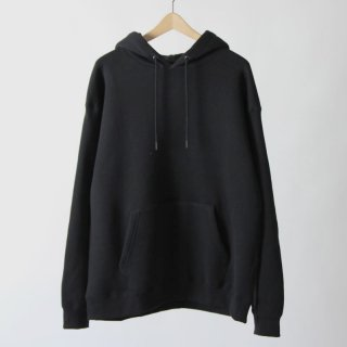 【2018 A/W】【unfil / アンフィル】cotton-terry hoodie BLACK