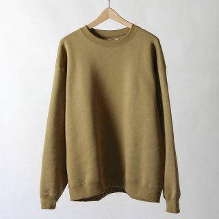【2018 A/W】【unfil / アンフィル】cotton-terry crewneck pullover CAMEL
