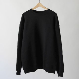 【2018 A/W】【unfil / アンフィル】cotton-terry crewneck pullover BLACK