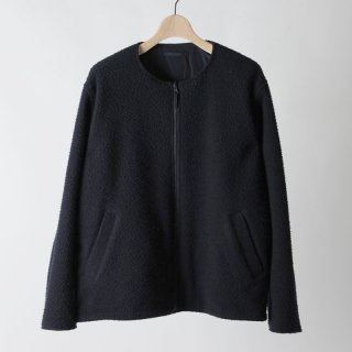 【2018 A/W】【unfil / アンフィル】napped wool-melton collarless reversible blouson DARKNAVY