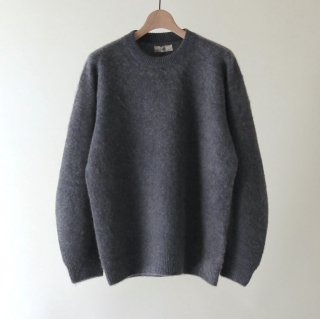 【2018 A/W】【unfil / アンフィル】brushed camel sweater GRAY