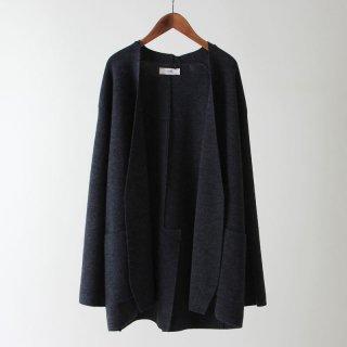 【2018 A/W】【unfil / アンフィル】tasmanian wool milanoribbed-knit jacket CHARCOAL