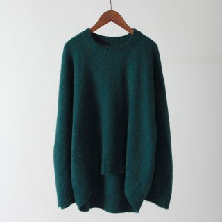 【2018 A/W】【unfil / アンフィル】brushed camel sweater GREEN