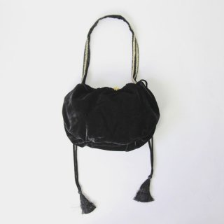 【2018A/W】【ne Quittez pas ヌキテパ】 <br>VELVET TASSELE SHOULDER BAG BROWN