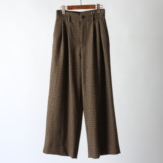【FINAL PRICE 1月21日再値下げ】【35%OFF】MY  PLAID WIDE SLACKS BROWN CHECK
