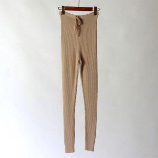 【40%OFF】PHLANNEL ultra fine wool rib leggings bisque