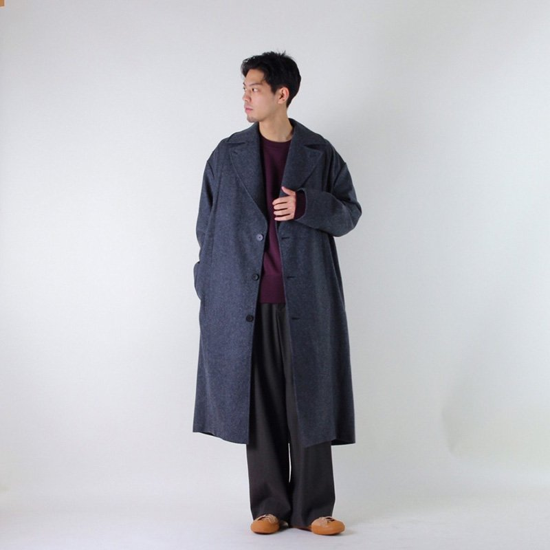 STUDIO NICHOLSON OVERCOAT DARKCHARCOAL