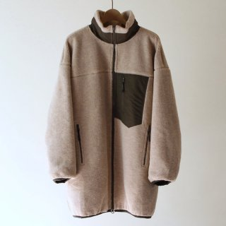 【2018A/W】nuterm ニューターム BOA STAND COLLAR COAT IVORYKHAKI