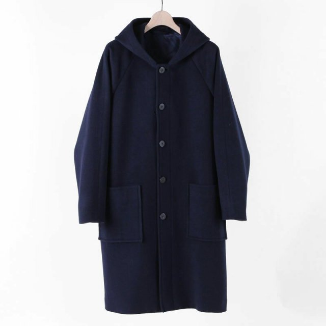 SLOWBE スローブ HOODED COAT NAVY