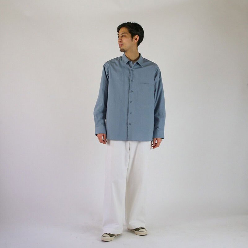 UNIVERSAL PRODUCTS FRENCH FRONT REGULAR COLLAR SHIRT