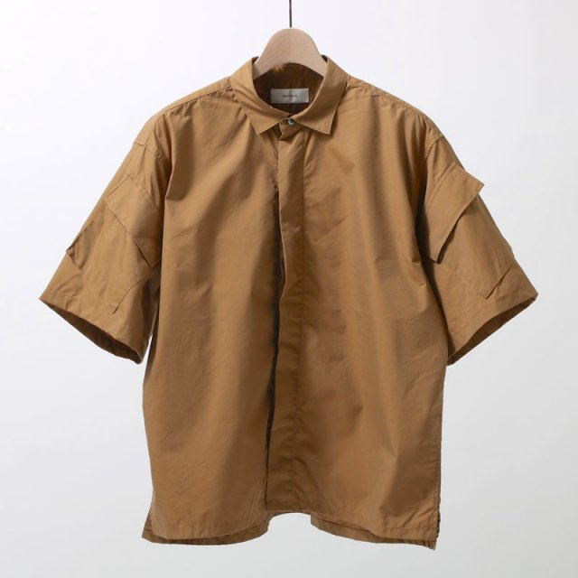 【2019 S/S】WELLDER ウェルダー Flap Pocket Short-Sleeve Shirt KHAKI
