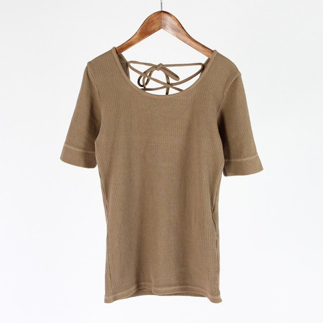 【2019 S/S】【R JUBILEE アール ジュビリー】BACK LACE-UP TEE BEIGE
