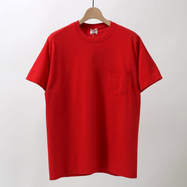 【TOWNCRAFT タウンクラフト】 80s pocket tee RED