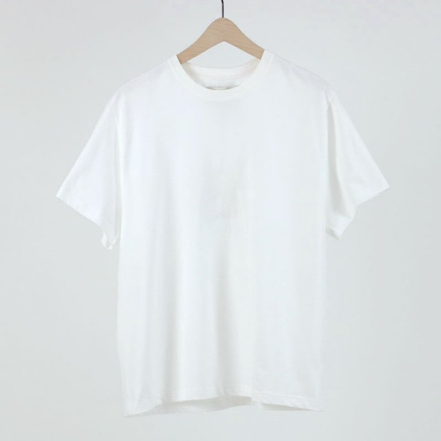 【STUDIO NICHOLSON】 SHORT SLEEVE T-SHIRT OPTIC WHITE