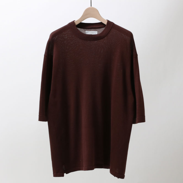 【40%OFF】【bukht】RIB KNIT TEE BRICK